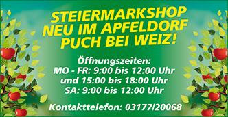 Öffnungszeiten Steiermarkshop
