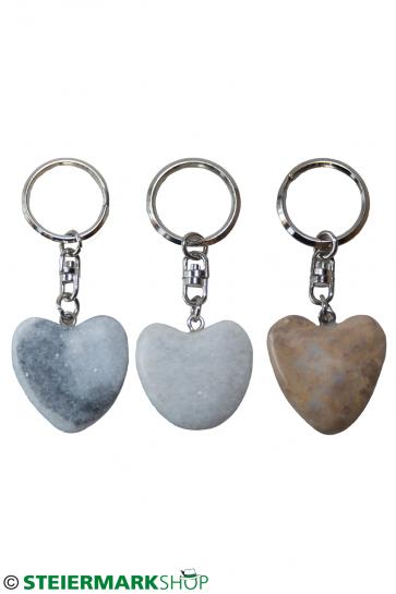Herz Schlüsselanhänger aus Stein
