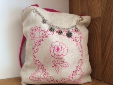 Tasche Rose natur