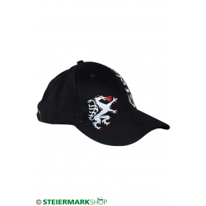 Steiermarkkappe Stick schwarz