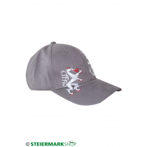 Steiermarkkappe Stick grau
