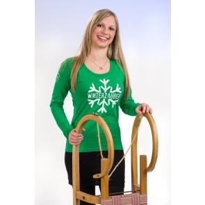 """""""Winterzauber"""" Damen Langarm T-Shirt Vorderansicht"""
