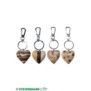 Herz Schlüsselanhänger aus Holz