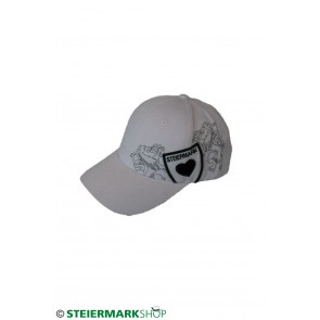 Steiermarkkappe weiß